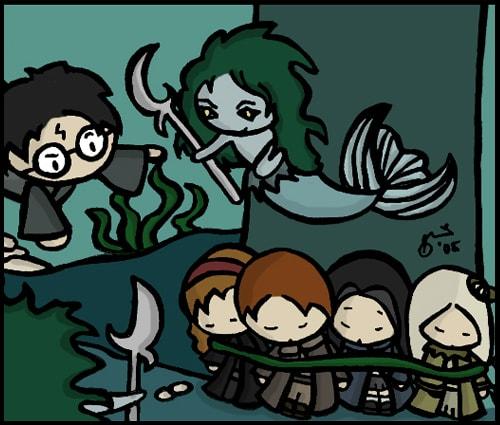 Cute Harry Potter Fanart By Sheena Sy Gonzales