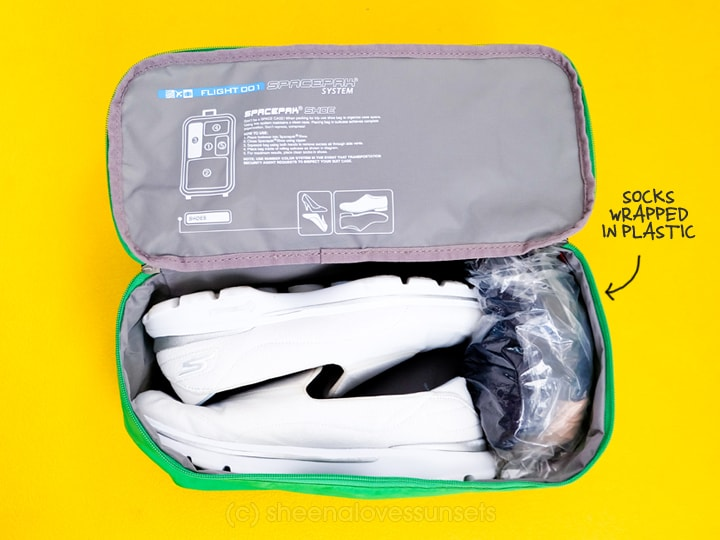 Pack Two Weeks Carry-On Flight001 SpacePak Shoes