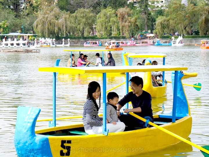 Baguio with a Toddler Boat Burnham Park