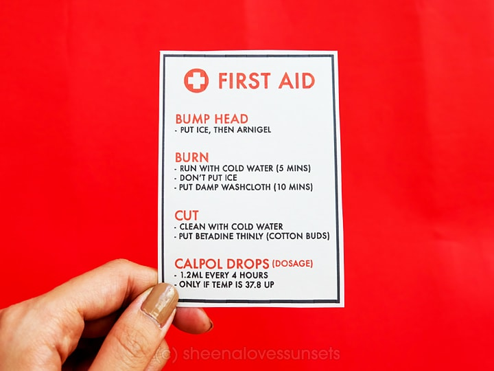 First Aid Travel Kit for Kids