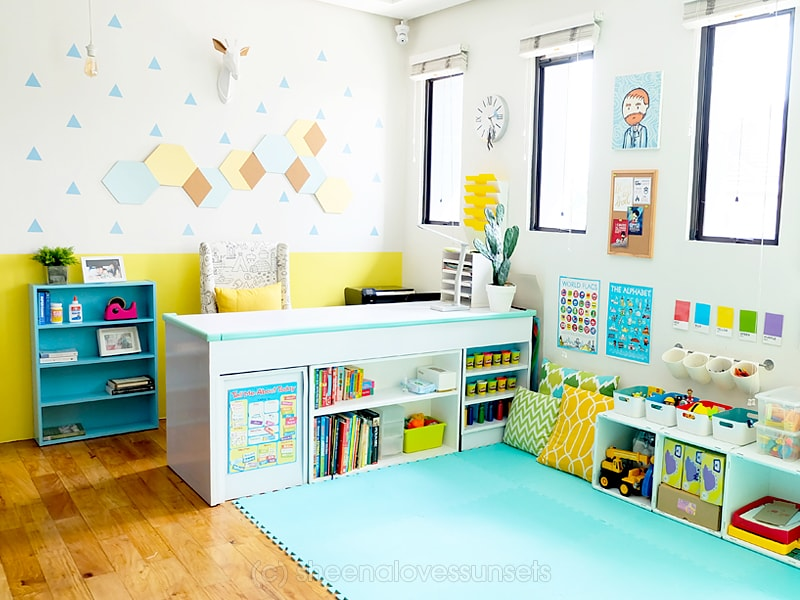 Homeschool Classroom Design ~ Our homeschool room design studio home office
